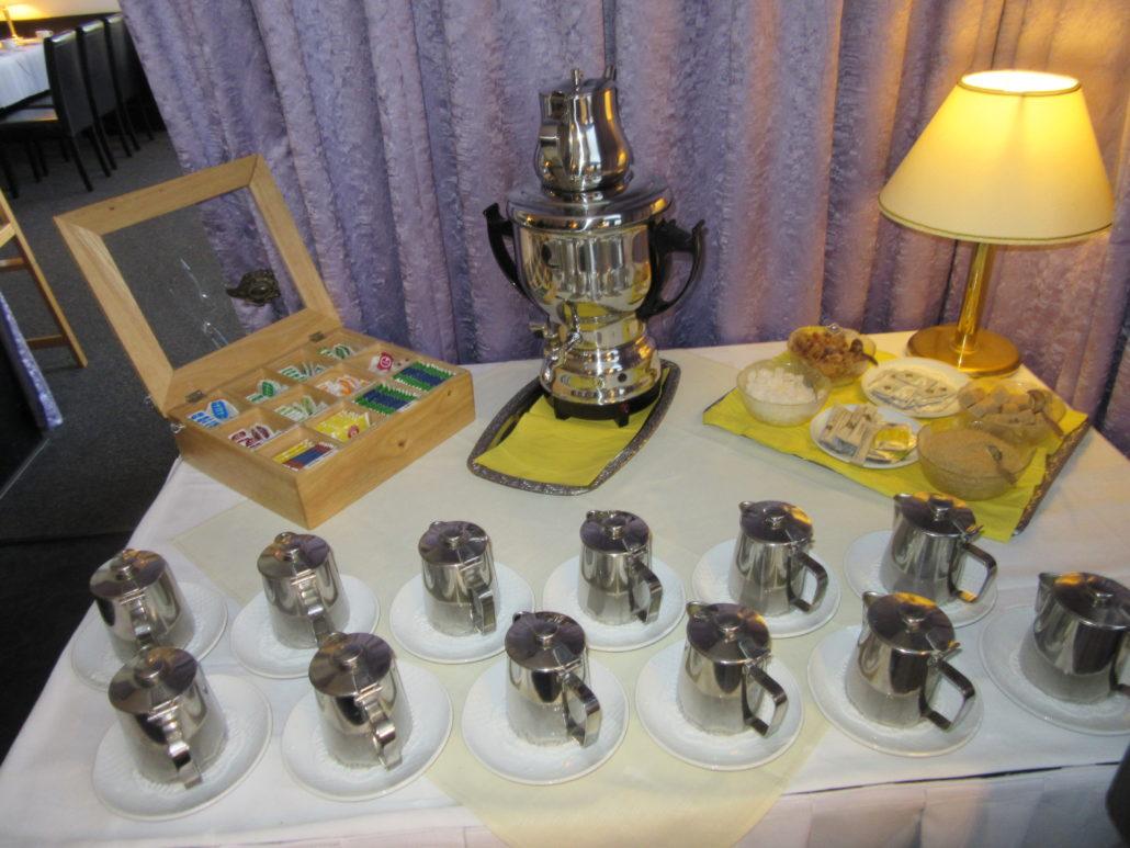 Teestation Frühstücksbuffet